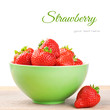 Fresh strawberry in a bowl