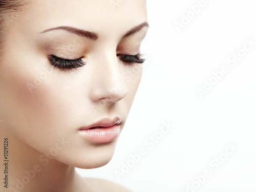 Beautiful woman face. Perfect makeup
