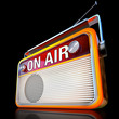 on air radio on black
