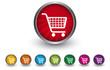 Buttonsammlung - Einkaufswagen - Online Shopping