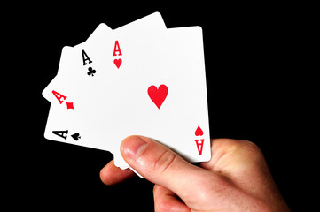 Holding 4 Aces