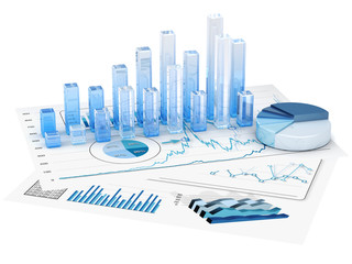Graphs of financial analysis - Isolated