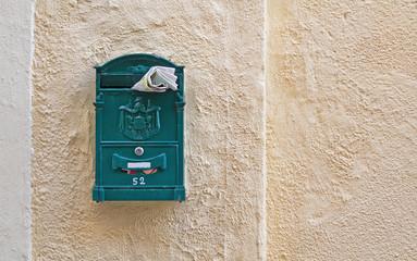 mail box and newspaper