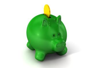 Konzept Geld, Sparschwein