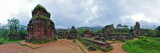 Panorama of My Son Hindu temple ruins, Vietnam