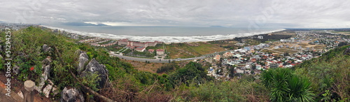 Panorama view from the Marble mountains, Da Nang, Vietnam