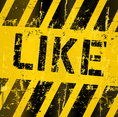 grungy like sign, social networks,vector