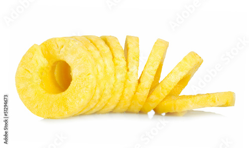 Peeled pineapple