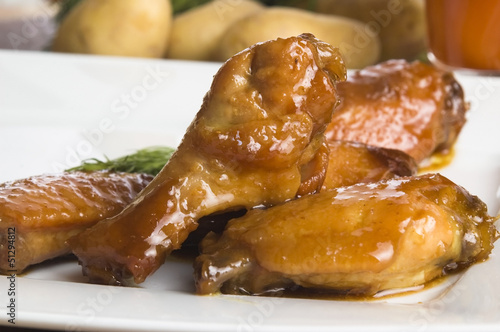 Roast chicken with honey