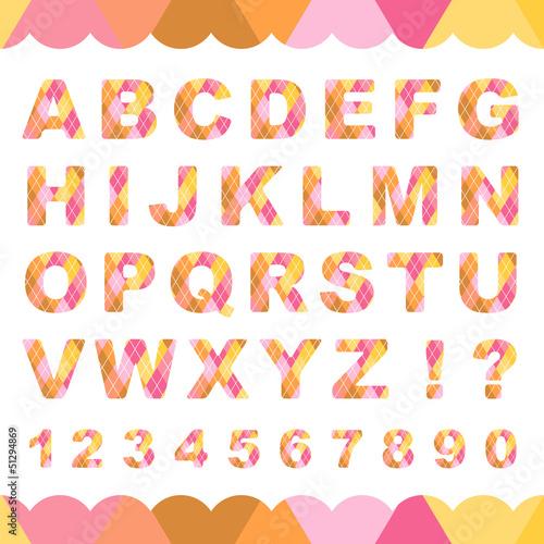 迷彩柄のアルファベットと数字 ...