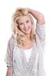 Junge hübsche blonde Frau - isoliert auf Weiß