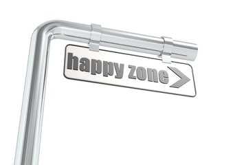 Happy zone street sign