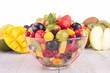 fresh fruits salad in bowl