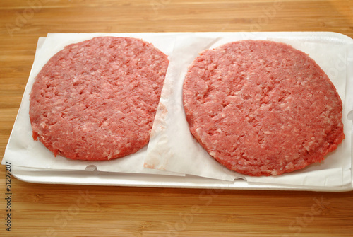 Raw Hamburgers