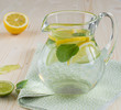 Lemon and mint refreshing drink
