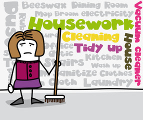 Tag cloud : Housework