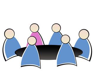 réunion travail - femme d'affaires