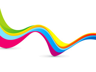 abstract colorful rainbow wave background