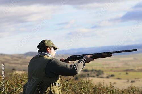 Fotobehang Jacht hunter shooting
