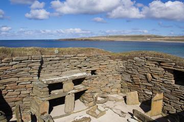 Prehistoric house, Orkney, Scotland