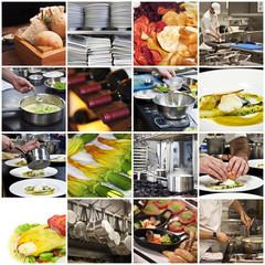 Collage cuisine et gastronomie