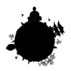 zen planet silhouette