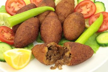 turkish dish, stuffed meatballs with bulgur - ( icli kofte )