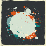 colorful grunge splash paint vector