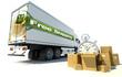 Truck, free shipping urgent service