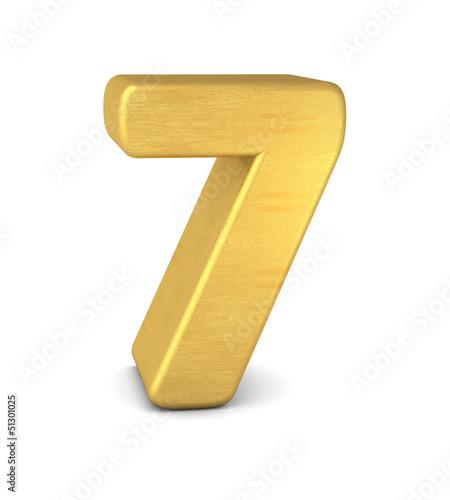 zahl cipher 7 gold vertikal