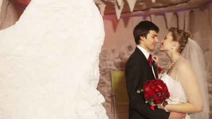 Couple in a salt cave