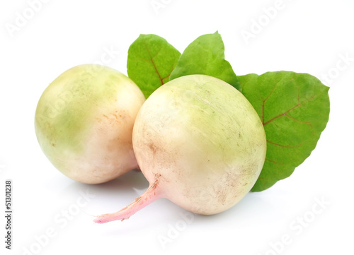 fresh radish with leaves