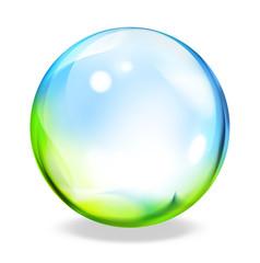 round button - green cyan