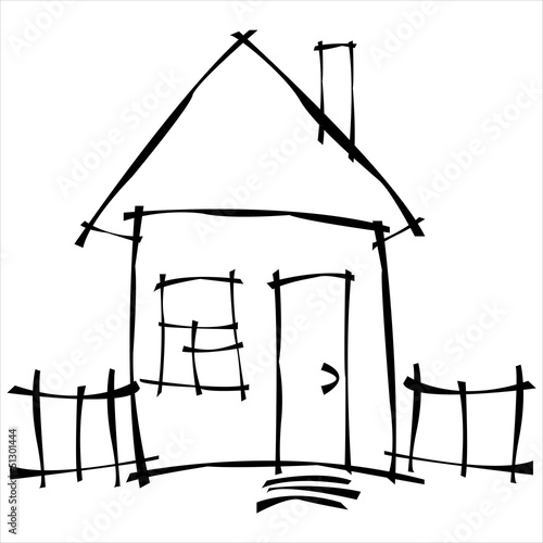 vector scetch house