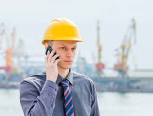 port  Inspector with a smartphone