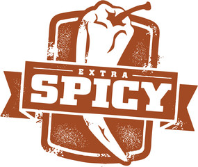 Spicy Food Menu Stamp