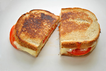 Grilled Cheese with Sliced Tomatoes