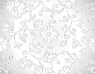 Seamless vector decorative floral wallpaper