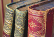 vintage books, close up