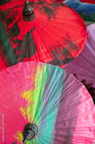 Colorful oriental umbrellas