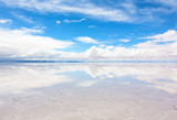 Fototapety Lake Salar de Uyuni with a thin layer of water