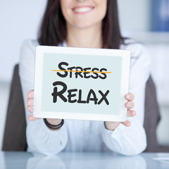 stress, relax