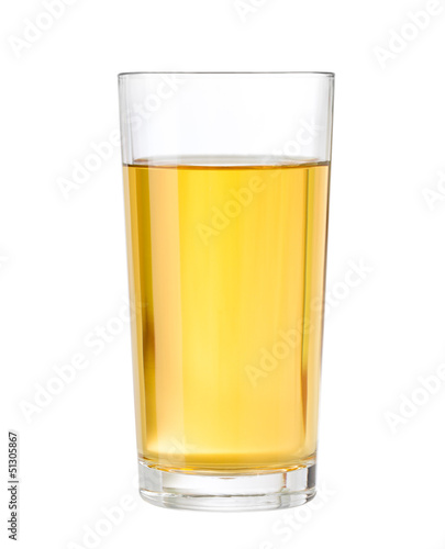 apple or grape clarified juice in glass isolated clipping path