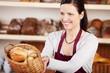 verkäuferin in der bäckerei