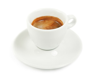 Cup with coffee espresso
