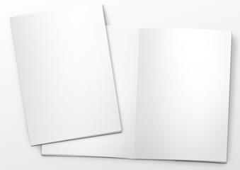 mockup broschüre titel und offen