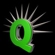 prickles letter q