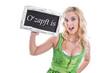 O zapft is - Münchner Oktoberfest - Frau im Dirndl isoliert