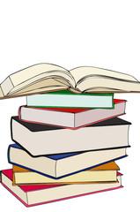 Una bella pila di libri