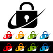 Swoosh Security Lock Icons